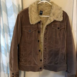 Gap velvet Sherpa lined jacket